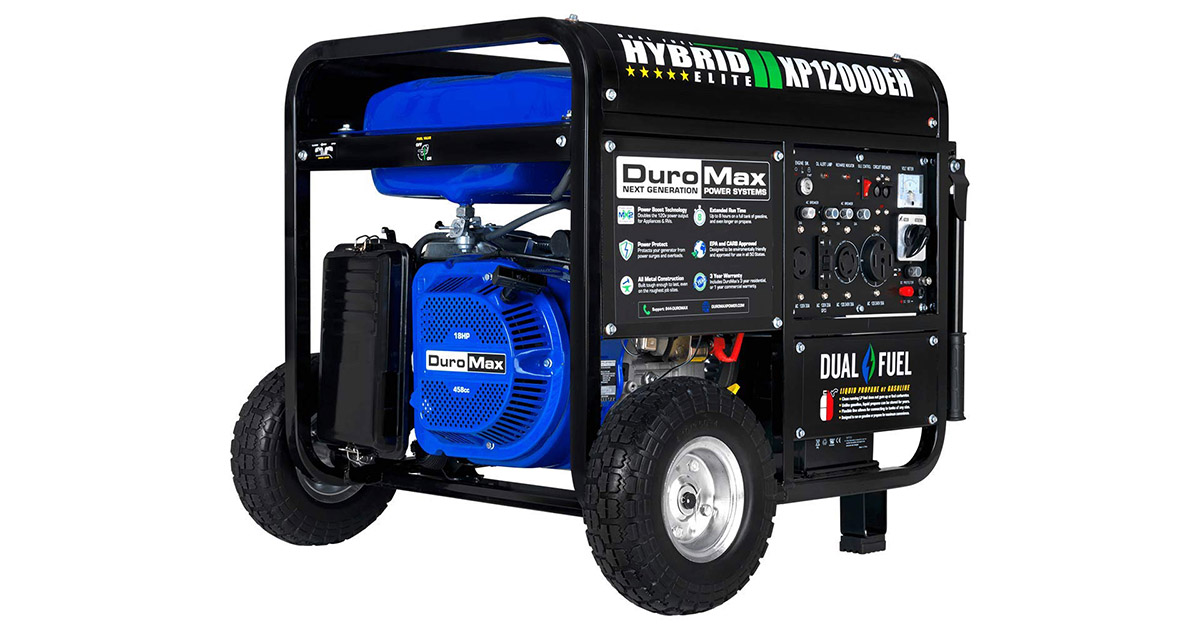 DuroMax XP12000EH Dual Fuel Electric Start Portable Generator image
