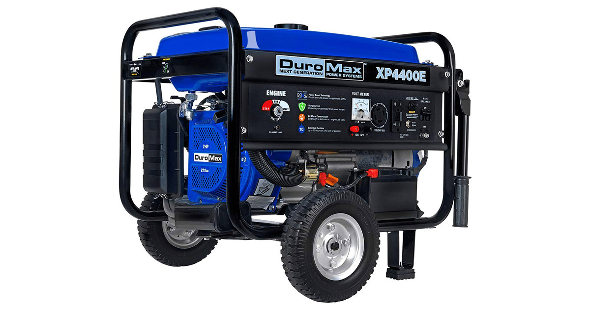 DuroMax XP4400E 4 Cycle Gas Powered Portable Generator image