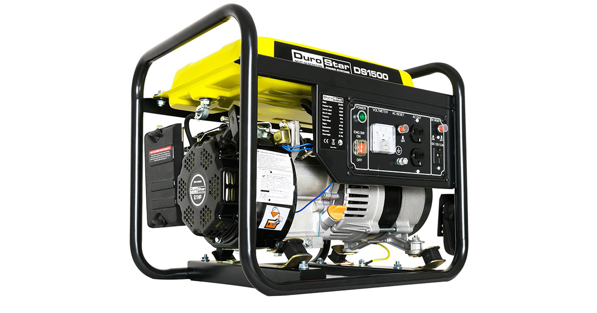 DuroStar DS1500 Air Cooled Gas Powered Portable Generator image