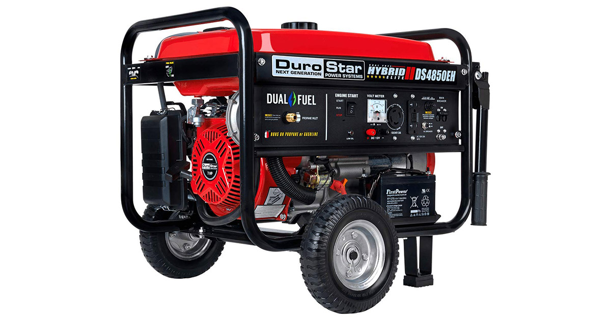 DuroStar DS4850EH Hybrid Dual Fuel Gas or Propane Portable Generator image
