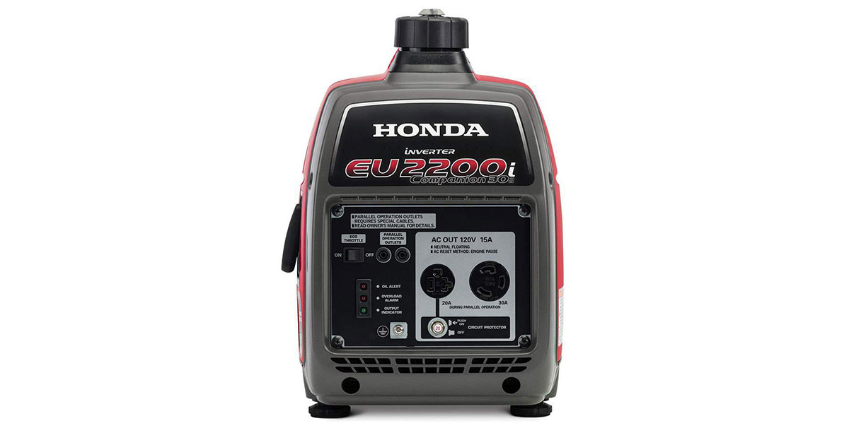 Honda EU2200IC 2200 Watt Companion Super Quiet Portable Inverter Generator image