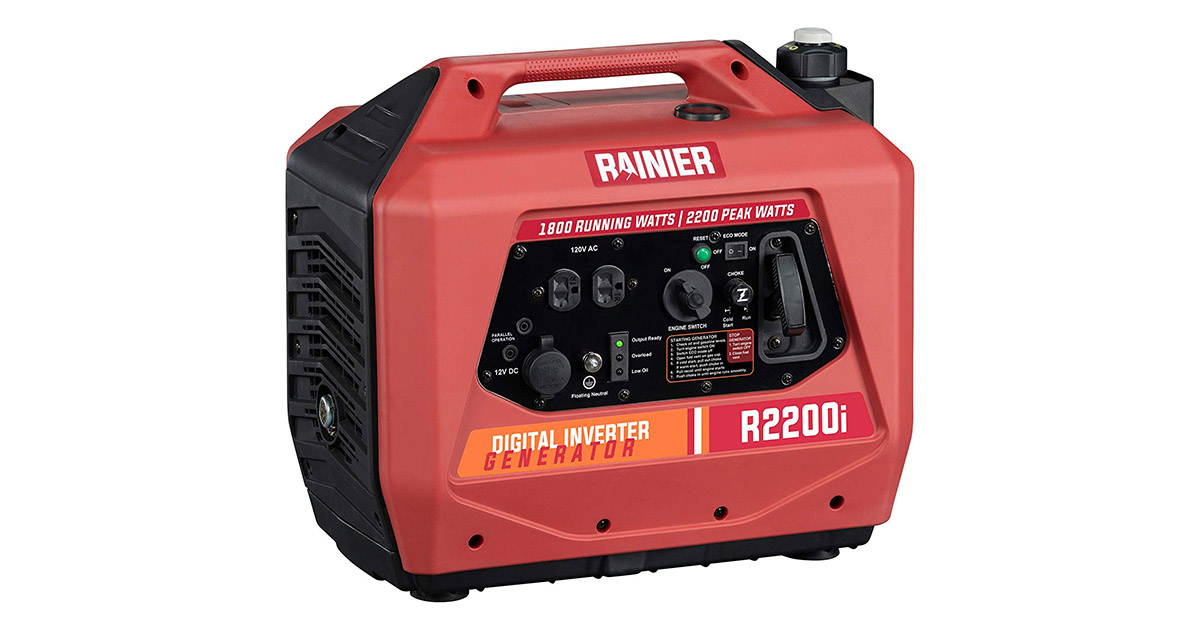 Rainier R2200i Super Quiet Portable Inverter Generator image
