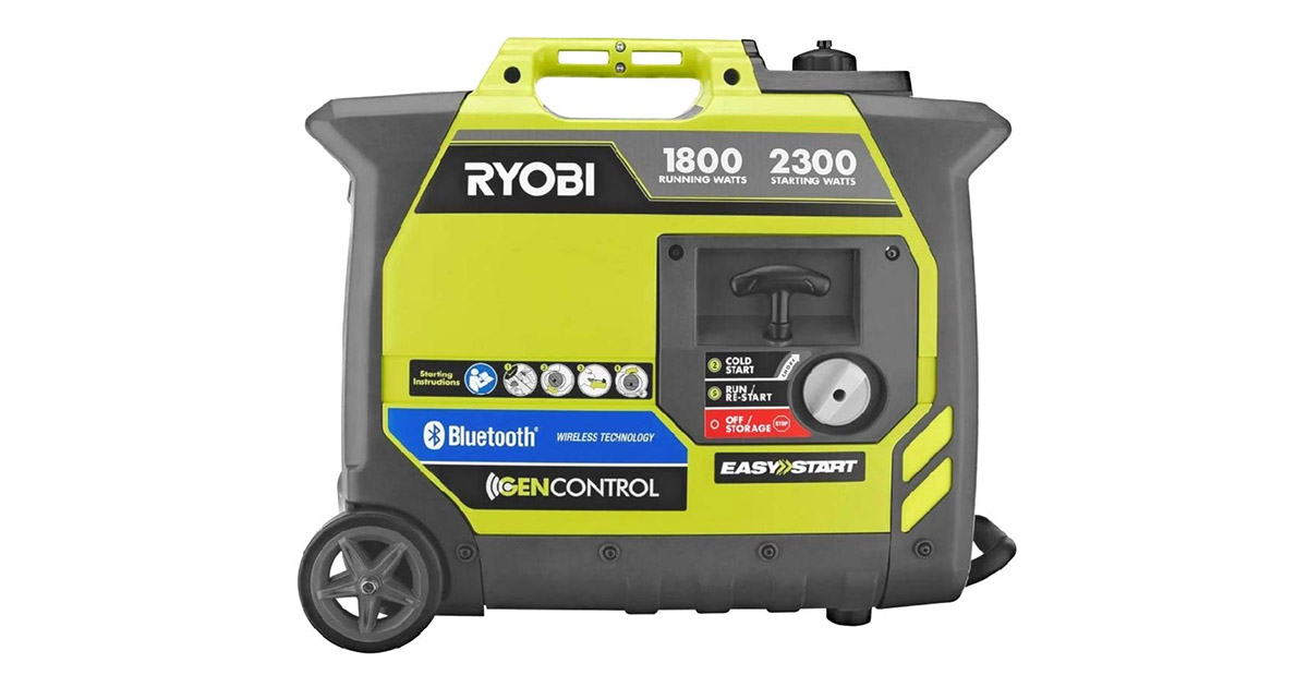 Ryobi RYI2300BTA Bluetooth Super Quiet Gasoline Powered Digital Inverter Generator image